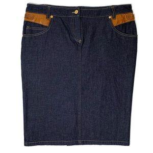 Roberto Cavalli Jean pencil skirt Italy size 46
